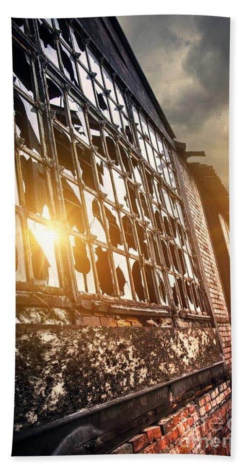 Abandoned Bath Sheet featuring the photograph Broken Windows by Carlos Caetano