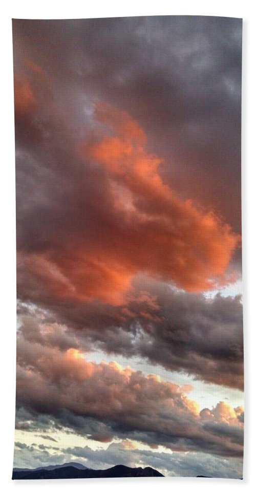 Bronco Sunset Bath Sheet featuring the photograph Bronco Sunset by Jennifer Forsyth