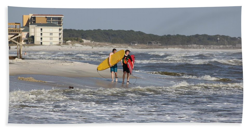 Beach Hand Towel featuring the photograph Brothers by David Mayeau