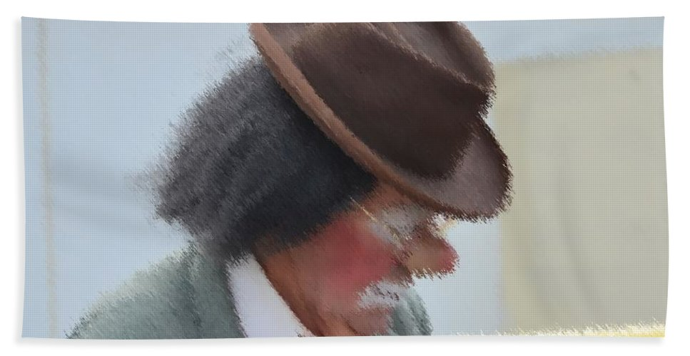 Brown Hand Towel featuring the photograph Brown Hat by Darrell Clakley