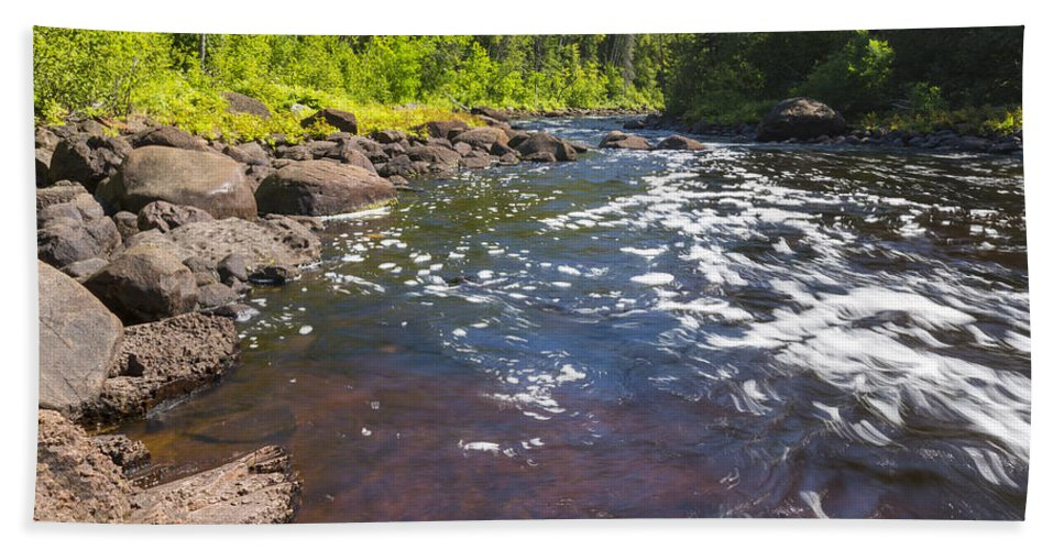 Water Bath Sheet featuring the photograph Brule River 2 by John Brueske
