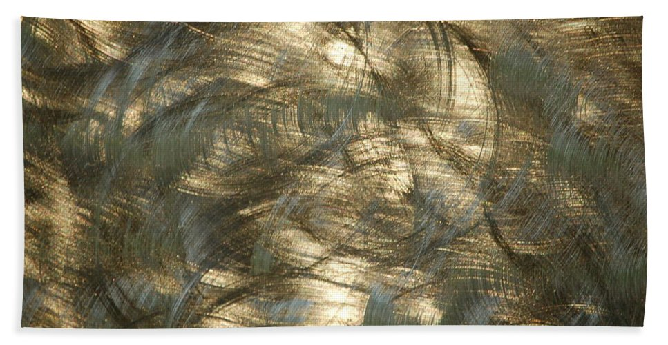 Linda Brody Bath Sheet featuring the photograph Brushed Metal by Linda Brody