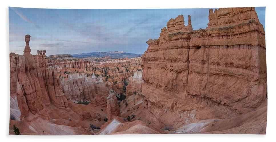 Bryce Canyon Bath Sheet featuring the photograph Bryce Amphitheater Fisheye View by Greg Nyquist