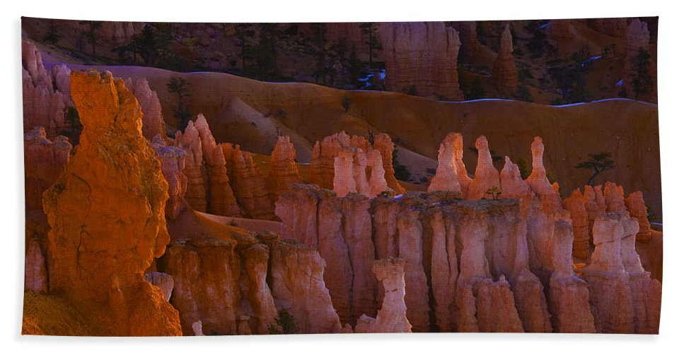 Arizona; Arizona Canyon; Canyon; United States; Usa; Southwest; Clouds; America; American; Beauty; Black; Deep; Desert; Environment; Erosion; Formation; Geology; Grand; Hand Towel featuring the photograph Bryce Canyon 4 by Ingrid Smith-Johnsen