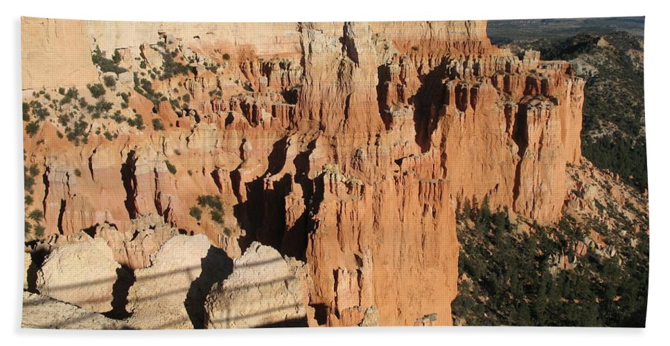 Rocks Bath Sheet featuring the photograph Bryce Canyon Hoodoos by Christiane Schulze Art And Photography