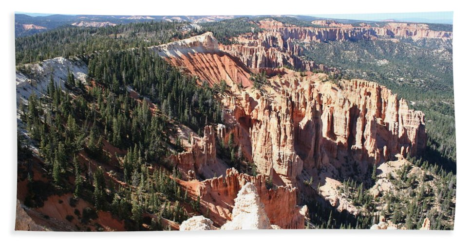 Canyon Bath Sheet featuring the photograph Bryce Canyon Hoodoos Landscape by Christiane Schulze Art And Photography