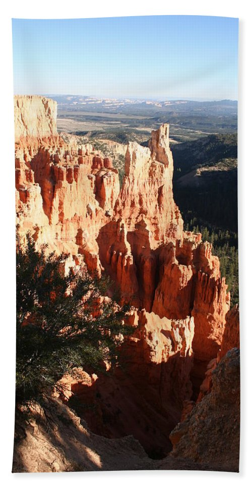 Canyon Bath Sheet featuring the photograph Bryce Canyon Landscape by Christiane Schulze Art And Photography
