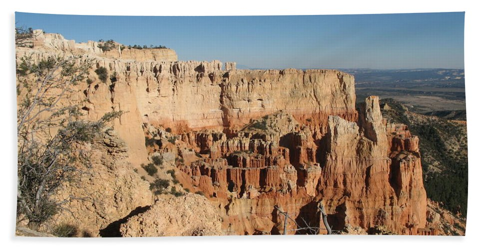 Rocks Hand Towel featuring the photograph Bryce Canyon Scenic View by Christiane Schulze Art And Photography