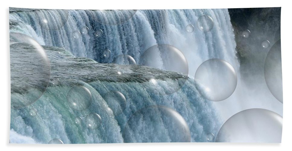 Bubbles Hand Towel featuring the photograph Bubbles Over Niagara Falls by Rose Santuci-Sofranko