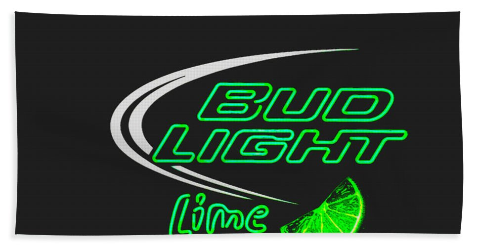 Hand Towel featuring the photograph Bud Light Lime 2 by Kelly Awad