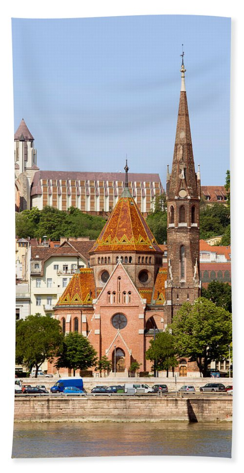 Budapest Bath Sheet featuring the photograph Buda Reformed Church In Budapest by Artur Bogacki