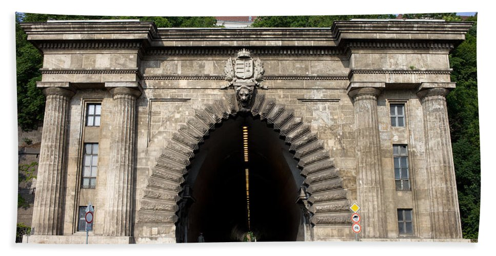 Buda Hand Towel featuring the photograph Buda Tunnel In Budapest by Artur Bogacki