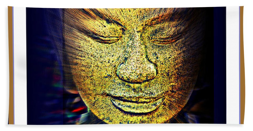 Buddha Bath Sheet featuring the photograph Buddhas Mind by Susanne Van Hulst