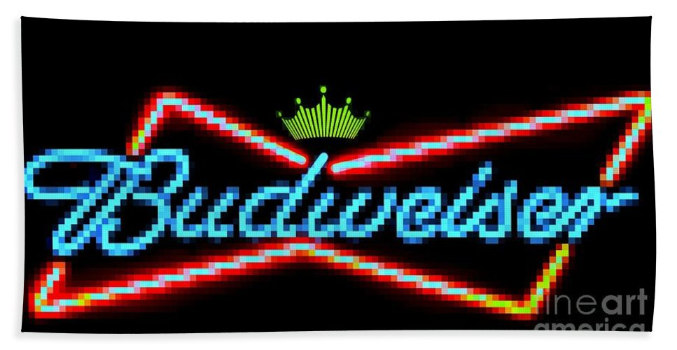 Bath Sheet featuring the photograph Budweiser 2 by Kelly Awad