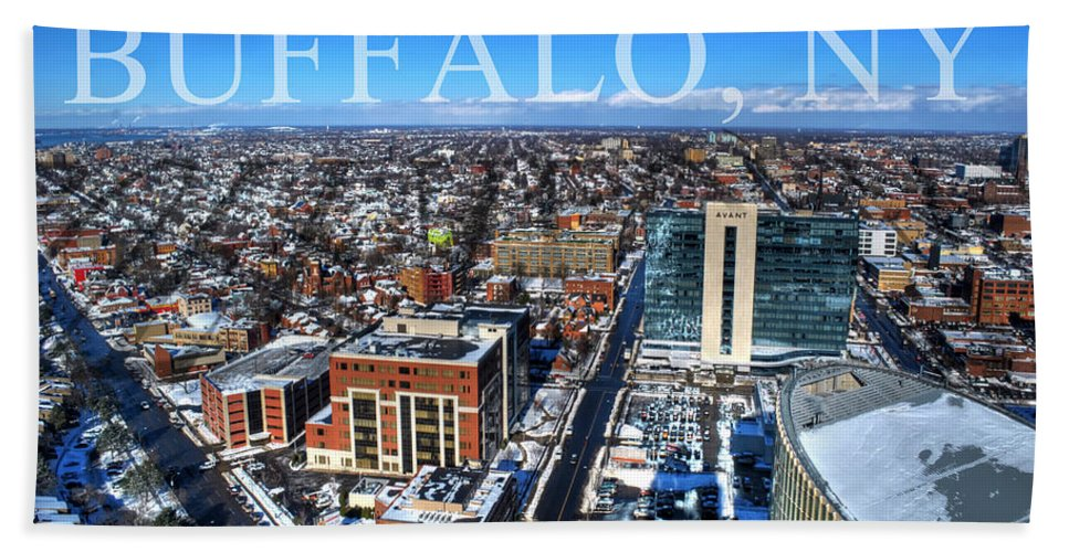 Winter Hand Towel featuring the photograph Buffalo Ny Winter 2013 by Michael Frank Jr