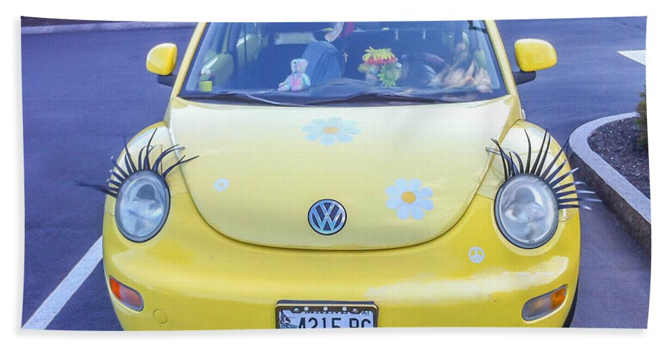 Automobile Bath Sheet featuring the photograph Bug-eyes by Guy Whiteley