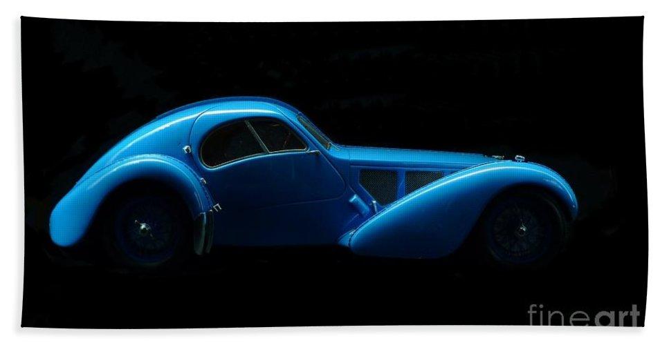 Car Art Bath Sheet featuring the photograph Bugatti T57sc Atlantic by Declan Leddy