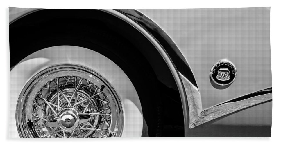 Buick Skylark Wheel Emblem Hand Towel featuring the photograph Buick Skylark Wheel Emblem by Jill Reger