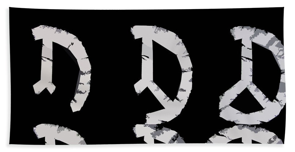 Peace Hand Towel featuring the digital art Build Up Peace by Michelle Calkins