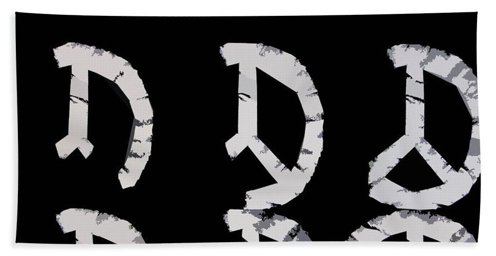 Peace Bath Towel featuring the digital art Build Up Peace by Michelle Calkins