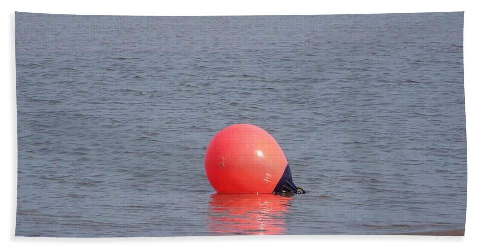 Buoy Hand Towel featuring the photograph Buoy In The Water by Kate Scott