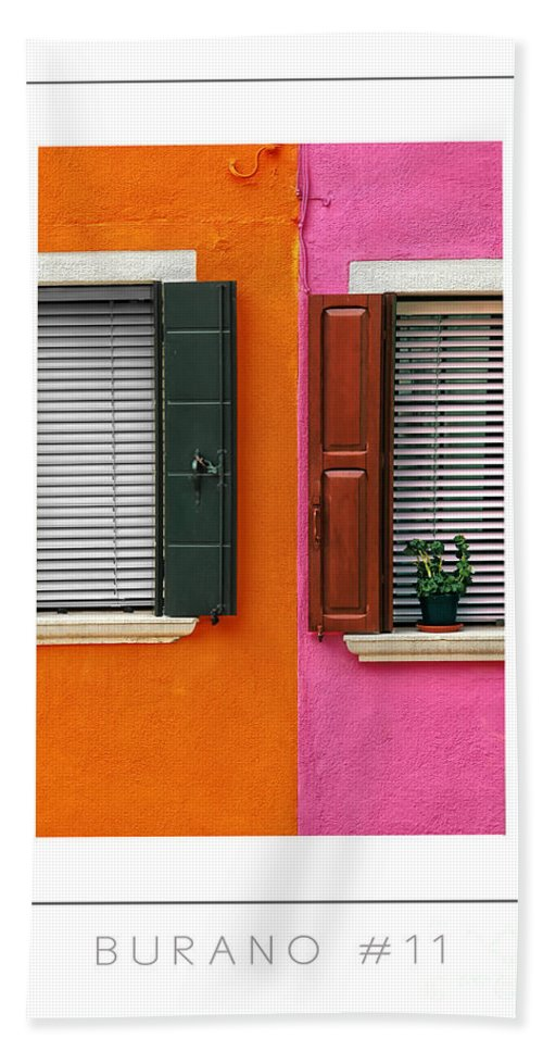 Burano Hand Towel featuring the photograph Burano 11 Poster by Mike Nellums