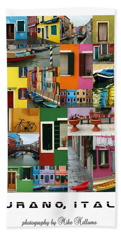 Burano Hand Towel featuring the photograph Burano Italy Poster by Mike Nellums