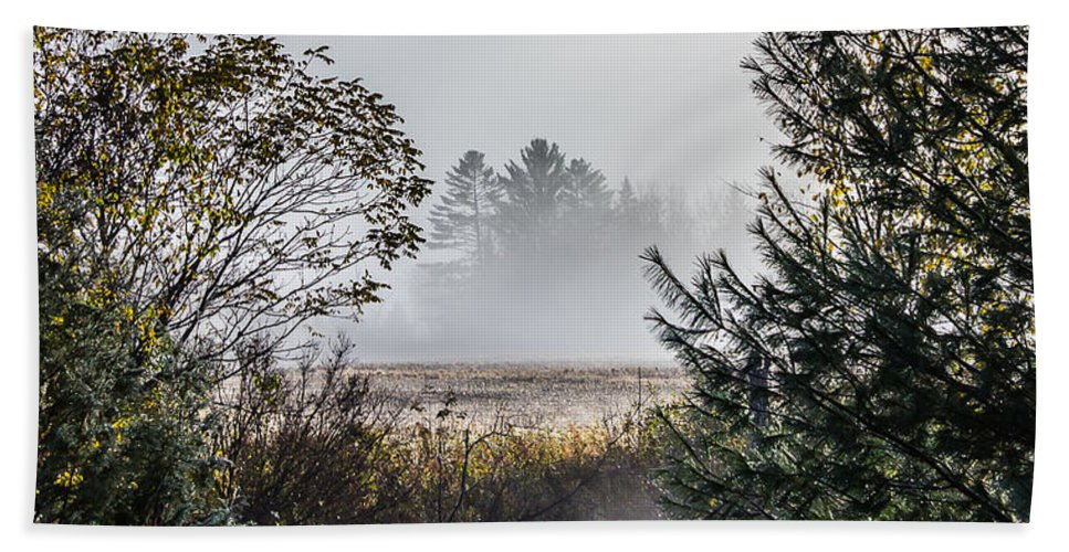 Landscape Hand Towel featuring the photograph Burke Above The Fog by Tim Kirchoff