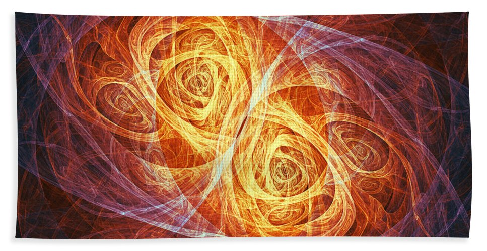 Butterfly Hand Towel featuring the digital art Burning Butterfly by Martin Capek