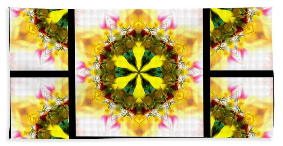 Sacredlife Mandalas Hand Towel featuring the digital art Burning Empathy Page by Derek Gedney