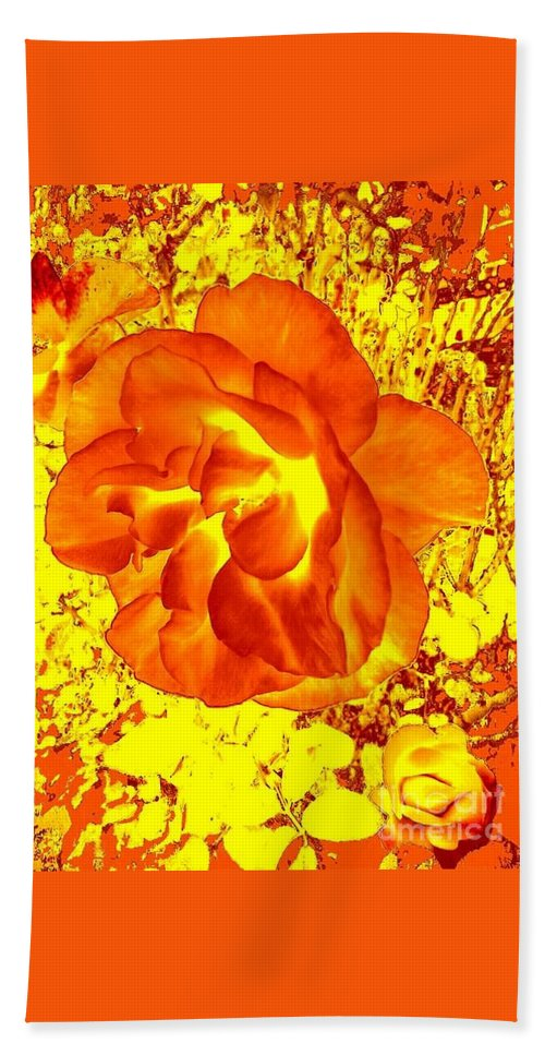 Digital Photograph Bath Sheet featuring the photograph Burning Passion by Fei A