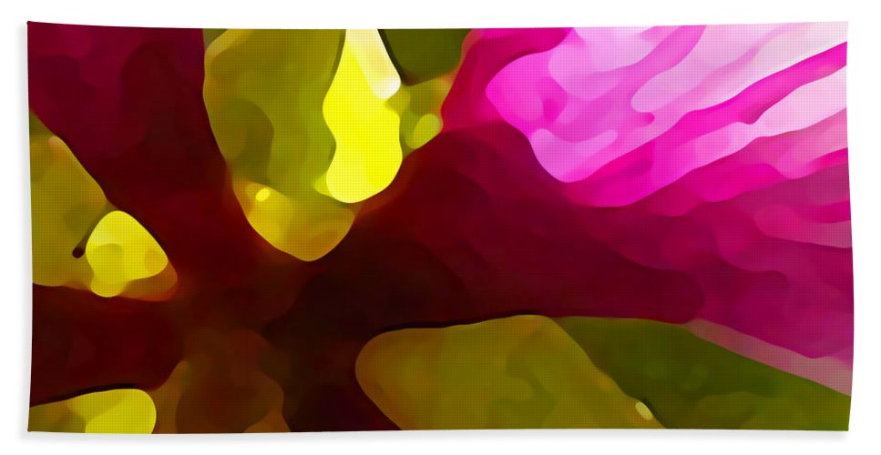 Contemporary Bath Sheet featuring the painting Burst Of Spring by Amy Vangsgard