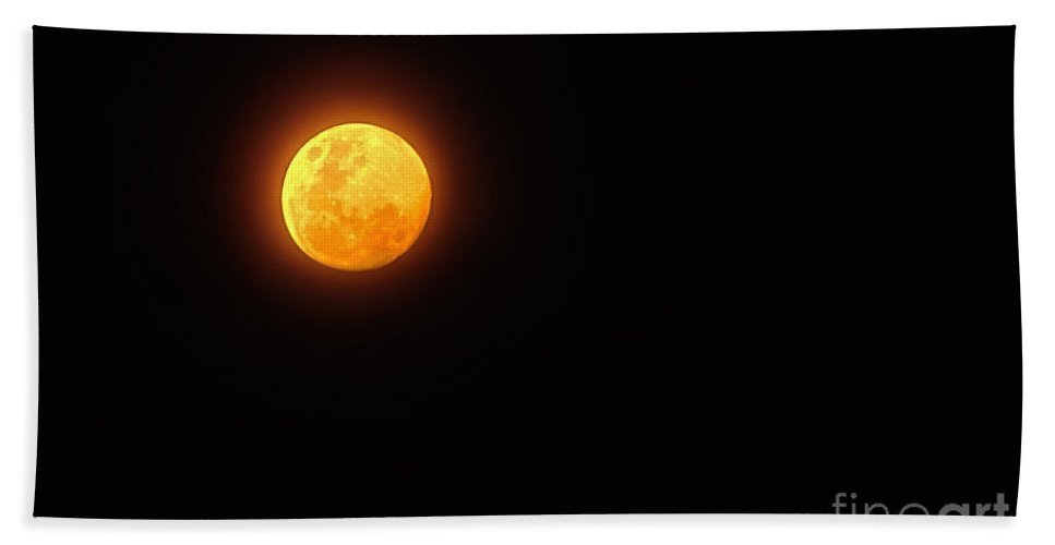 Photography Bath Sheet featuring the photograph Bushfire Moon by Kaye Menner