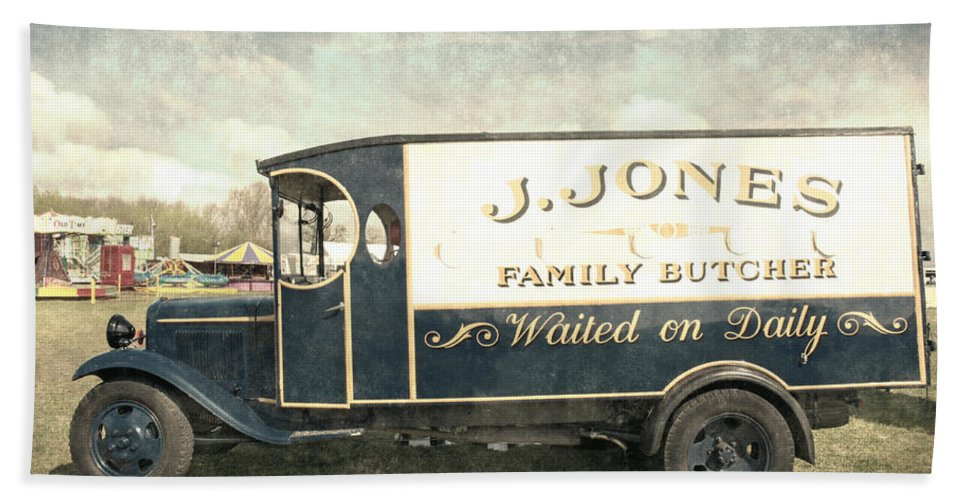 Aged Bath Sheet featuring the photograph Butchers Van by Roy Pedersen
