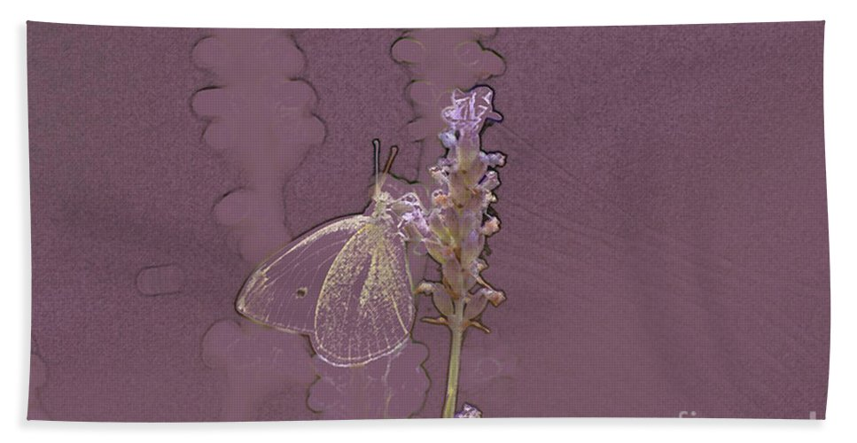 Butterfly Hand Towel featuring the digital art Butterfly 3 by Carol Lynch