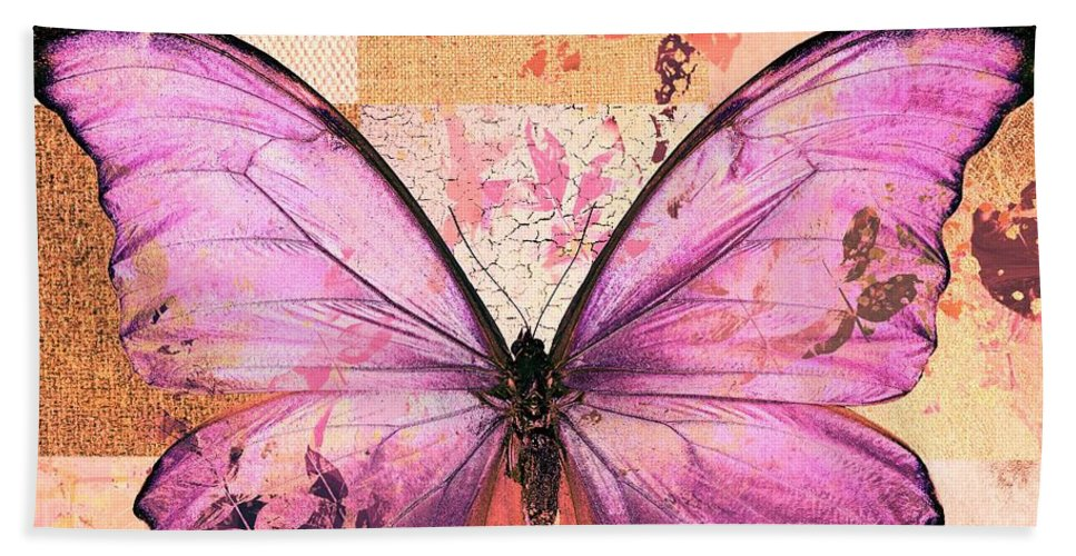 Butterfly Hand Towel featuring the digital art Butterfly Art - Sr51a by Variance Collections