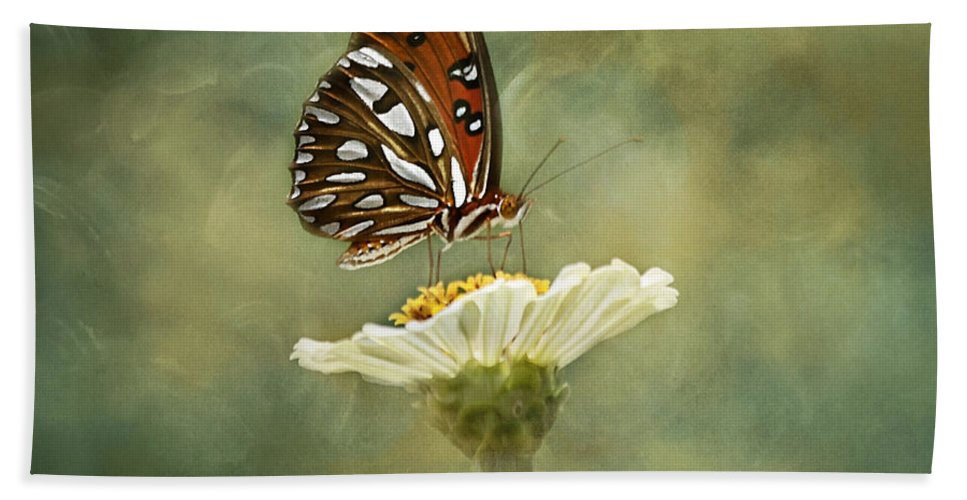 Butterfly Bath Towel featuring the photograph Butterfly Dreams by Kim Hojnacki