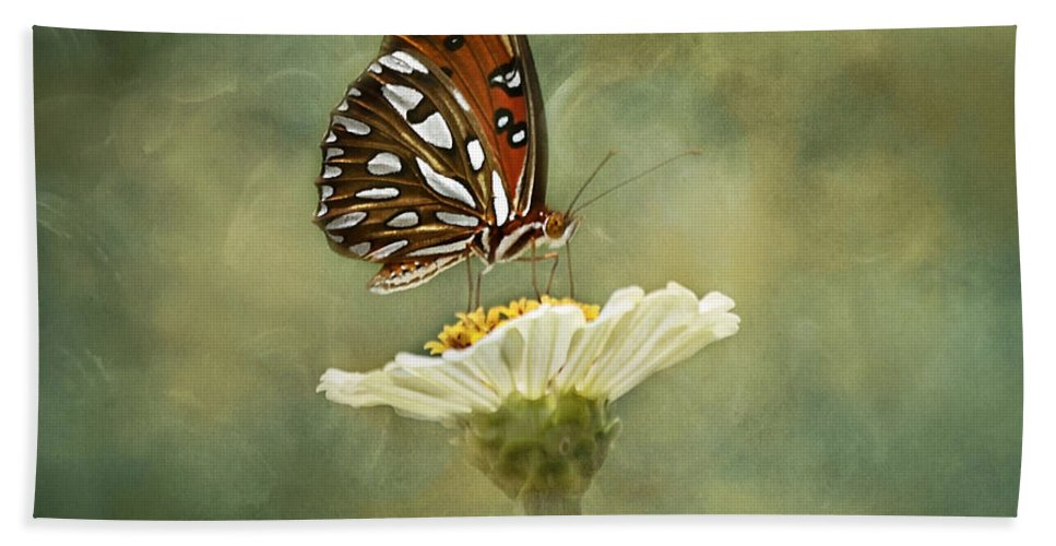 Butterfly Bath Sheet featuring the photograph Butterfly Dreams by Kim Hojnacki