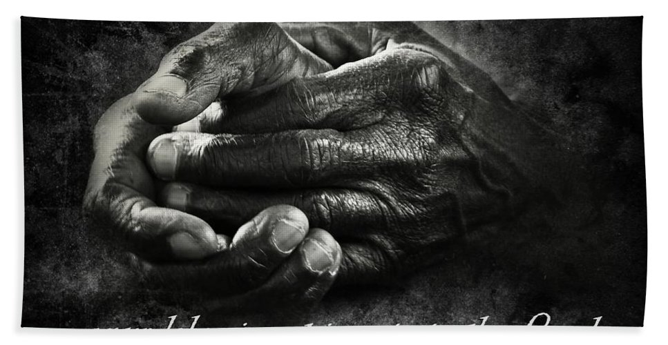 Memphis Bath Sheet featuring the photograph Bw Labor Not In Vain Hands by Dale Crum