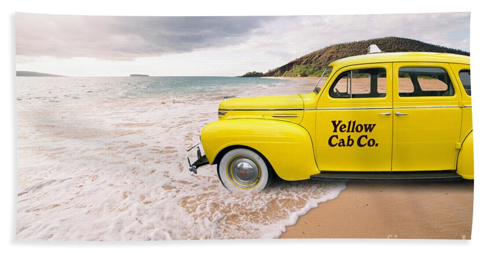Hawaii Bath Sheet featuring the photograph Cab Fare To Maui by Edward Fielding