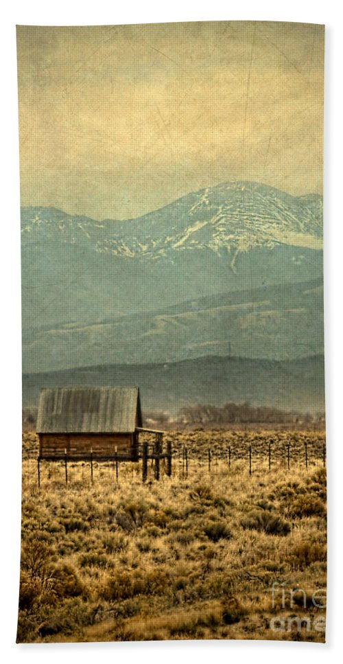 Shack Hand Towel featuring the photograph Cabin With Mountain Views by Jill Battaglia