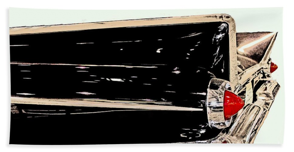 Collectible Hand Towel featuring the photograph 1959 Buick Electra 225 Fins by Tom Gari Gallery-Three-Photography