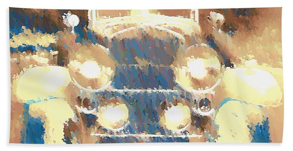 Cadillac Bath Sheet featuring the digital art Caddy Phaeton by John Madison
