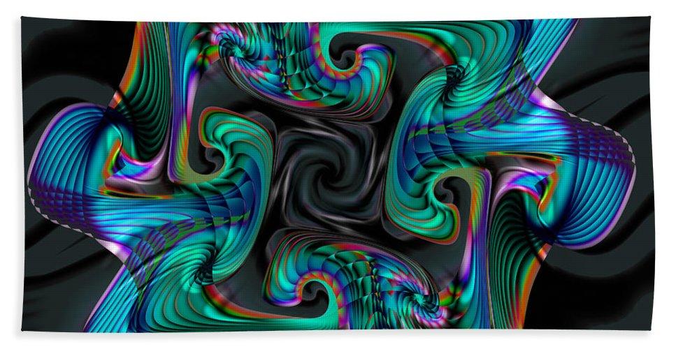 Cadenza Hand Towel featuring the digital art Cadenza by Kimberly Hansen