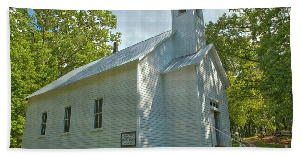 Cades Cove Baptist Church Hand Towel featuring the photograph Cades Cove Baptist Church by Adam Jewell