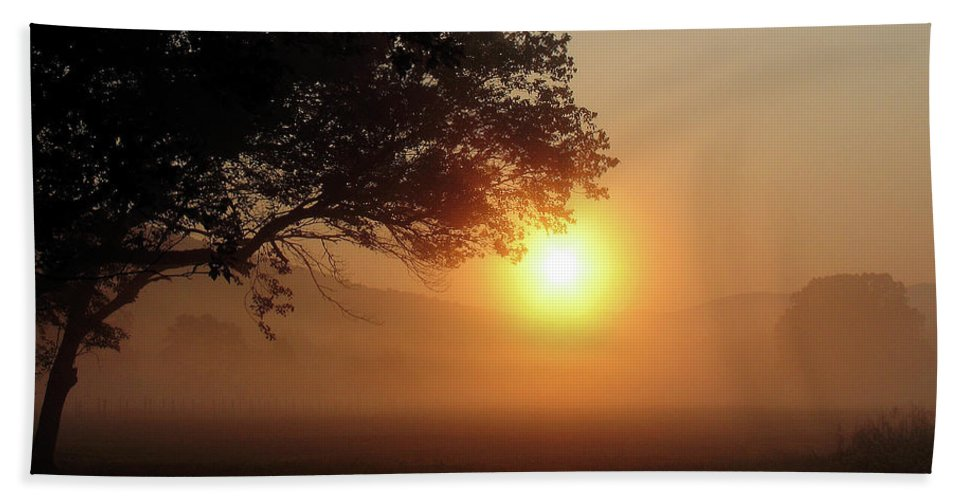 Trees Bath Sheet featuring the photograph Cades Cove Sunrise by Douglas Stucky