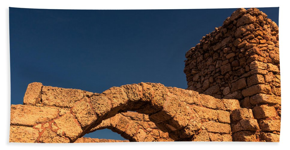 Caesarea Hand Towel featuring the photograph Caesarea by David Gleeson