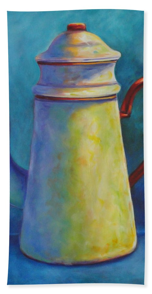 Coffee Bath Sheet featuring the painting Cafe Au Lait by Shannon Grissom