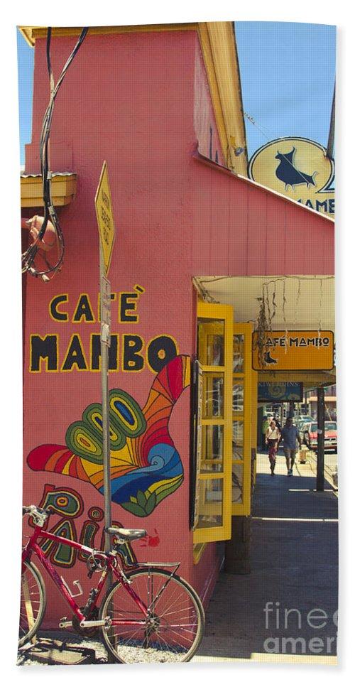 Bath Sheet featuring the photograph Cafe Mambo Paia Maui Hawaii by Sharon Mau