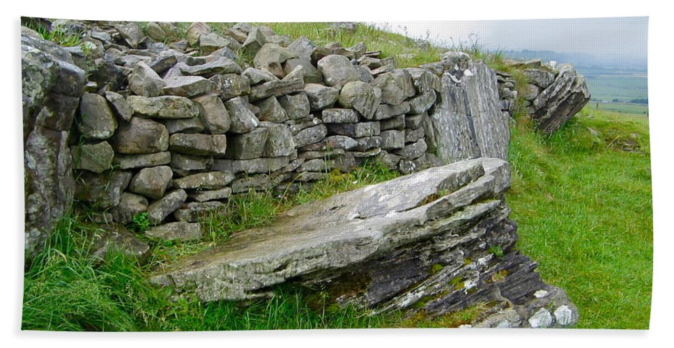 Loughcrew Bath Sheet featuring the photograph Cairn T - The Hag's Chair by Denise Mazzocco